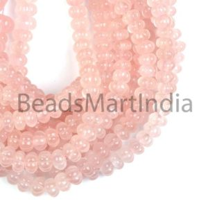 Shop Rose Quartz Rondelle Beads! Rose Quartz Carving Rondelle Gemstone Beads, Rose Quartz Carving, Rose Quartz Carving Beads, Rose Quartz Rondelle Beads AAA Quality | Natural genuine rondelle Rose Quartz beads for beading and jewelry making.  #jewelry #beads #beadedjewelry #diyjewelry #jewelrymaking #beadstore #beading #affiliate #ad