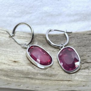 Shop Ruby Earrings! 14K White Gold Natural Ruby (9.00 ct) Earrings, Appraised 2,500 CAD | Natural genuine Ruby earrings. Buy crystal jewelry, handmade handcrafted artisan jewelry for women.  Unique handmade gift ideas. #jewelry #beadedearrings #beadedjewelry #gift #shopping #handmadejewelry #fashion #style #product #earrings #affiliate #ad