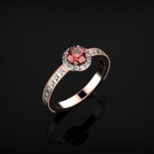 Ruby Engagement Ring Rose Gold Engagement Ring Ruby Ring Unique Engagement Ring Ruby in Rose Gold Rose Gold Ruby Ring July Birthstone | Natural genuine Array rings, simple unique alternative gemstone engagement rings. #rings #jewelry #bridal #wedding #jewelryaccessories #engagementrings #weddingideas #affiliate #ad