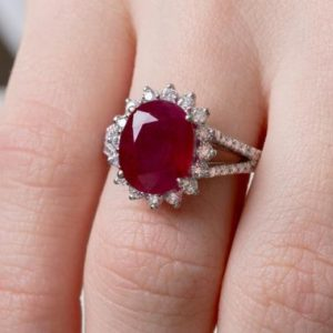 Ruby Engagement Ring, White Gold Ruby Ring, Ruby Halo Ring, Real Ruby Ring, Ruby Diamond Ring, Ruby Gold Ring, Ruby Gold Solitaire, Diamond | Natural genuine Array rings, simple unique alternative gemstone engagement rings. #rings #jewelry #bridal #wedding #jewelryaccessories #engagementrings #weddingideas #affiliate #ad