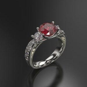 Ruby Engagement Ring White Gold Engagement Ring Ruby Ring Ruby Gold White Gold Ruby Ring | Natural genuine Array rings, simple unique alternative gemstone engagement rings. #rings #jewelry #bridal #wedding #jewelryaccessories #engagementrings #weddingideas #affiliate #ad