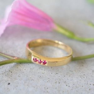 Ruby ring ,14k gold solid ring, 14k gold ring ruby, ruby gold band, 14k gold engagement ring,ruby engagement ring, unique engagement ring | Natural genuine Array rings, simple unique alternative gemstone engagement rings. #rings #jewelry #bridal #wedding #jewelryaccessories #engagementrings #weddingideas #affiliate #ad