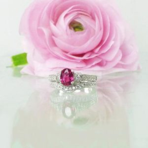 Ruby Ring, Ruby Engagement Ring, Ruby Engagement Set, Ruby Silver Ring, Natural Ruby Ring, Engagement Ring, Wedding Ring, Silver Wedding Set | Natural genuine Array rings, simple unique alternative gemstone engagement rings. #rings #jewelry #bridal #wedding #jewelryaccessories #engagementrings #weddingideas #affiliate #ad