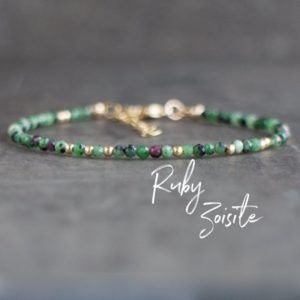 Ruby Zoisite Bracelet, Adjustable Bracelet, Gemstone Bracelet, Joy Bracelet, Beaded Bracelet, Anyolite Bracelet, Ruby in Zoisite Jewelry | Natural genuine Ruby Zoisite bracelets. Buy crystal jewelry, handmade handcrafted artisan jewelry for women.  Unique handmade gift ideas. #jewelry #beadedbracelets #beadedjewelry #gift #shopping #handmadejewelry #fashion #style #product #bracelets #affiliate #ad
