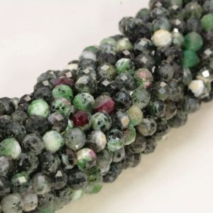 Shop Ruby Zoisite Faceted Beads! 6MM Ruby Zoisite Gemstone Grade AB Micro Faceted Round Beads 15.5 inch Full Strand BULK LOT 1,2,6,12 and 50(80006536-A205) | Natural genuine faceted Ruby Zoisite beads for beading and jewelry making.  #jewelry #beads #beadedjewelry #diyjewelry #jewelrymaking #beadstore #beading #affiliate #ad