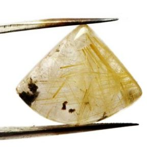 Shop Rutilated Quartz Cabochons! Golden Rutilated Quartz Cabochon Stone (21mm x 17mm x 7mm) 21cts – Triangle Cabochon | Natural genuine stones & crystals in various shapes & sizes. Buy raw cut, tumbled, or polished gemstones for making jewelry or crystal healing energy vibration raising reiki stones. #crystals #gemstones #crystalhealing #crystalsandgemstones #energyhealing #affiliate #ad
