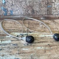 Silver Earrings With Gemstones, Black Rutile Quartz Drops, Threader Silver Earrings For Women | Natural genuine Gemstone jewelry. Buy crystal jewelry, handmade handcrafted artisan jewelry for women.  Unique handmade gift ideas. #jewelry #beadedjewelry #beadedjewelry #gift #shopping #handmadejewelry #fashion #style #product #jewelry #affiliate #ad