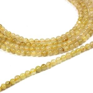 "Shop Rutilated Quartz Bead Shapes! unique quartz beads,gold quartz stone beads,semiprecious beads,loose beads,loose stones,rutilated quartz beads,diy beads  – 16"" Full Strand 