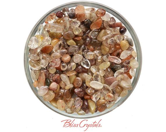 28 Gm Rutilated Quartz Mini Small Size Tumbled Crystals Healing Crystal And Stone For Jewelry & Crafts #rq20