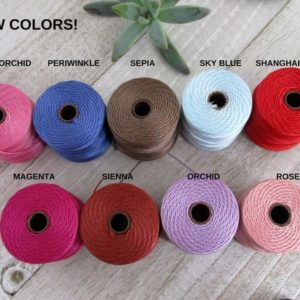 Shop Cord! S-Lon Tex 210 Beading Cord, Kumihimo, Micro Macrame, Crochet Cord, 0.5mm Diameter, 77 Yard Spool, Choice of Colors | Shop jewelry making and beading supplies, tools & findings for DIY jewelry making and crafts. #jewelrymaking #diyjewelry #jewelrycrafts #jewelrysupplies #beading #affiliate #ad