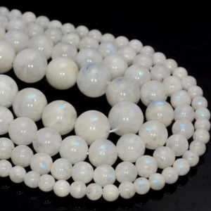 SALE !!! Genuine Rainbow Moonstone Gemstone Indian Grade AA 4-5mm 5-6mm 6-7mm 7-8mm 8-9mm 9-10mm Round Loose Beads Full Strand (500) | Natural genuine beads Gemstone beads for beading and jewelry making.  #jewelry #beads #beadedjewelry #diyjewelry #jewelrymaking #beadstore #beading #affiliate #ad