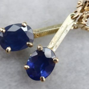 Shop Sapphire Earrings! Sapphire and Gold Drop Earrings, Blue Sapphire Earrings, Bridal Jewelry, September Birthstone, Anniversary Gift C1E887QE   Natural genuine Sapphire earrings. Buy handcrafted artisan wedding jewelry.  Unique handmade bridal jewelry gift ideas. #jewelry #beadedearrings #gift #crystaljewelry #shopping #handmadejewelry #wedding #bridal #earrings #affiliate #ad