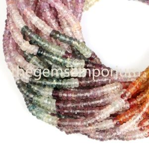 Shop Sapphire Faceted Beads! Natural Multi Sapphire Faceted Rondelle Beads, Multi Sapphire Faceted Beads,Multi Precious Sapphire Beads,Wholesale Multi Sapphire Beads | Natural genuine faceted Sapphire beads for beading and jewelry making.  #jewelry #beads #beadedjewelry #diyjewelry #jewelrymaking #beadstore #beading #affiliate #ad