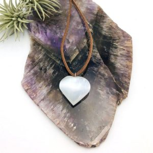 Shop Selenite Pendants! Selenite Heart Pendant With Silver Tone Bail (rk67b23) | Natural genuine Selenite pendants. Buy crystal jewelry, handmade handcrafted artisan jewelry for women.  Unique handmade gift ideas. #jewelry #beadedpendants #beadedjewelry #gift #shopping #handmadejewelry #fashion #style #product #pendants #affiliate #ad