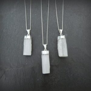 Shop Selenite Necklaces! Selenite Necklace, Selenite Pendant, Gemstone Point Necklace, White Selenite Necklace, Natural Selenite, Healing Stone, Gemstone Appeal, GSA | Natural genuine Selenite necklaces. Buy crystal jewelry, handmade handcrafted artisan jewelry for women.  Unique handmade gift ideas. #jewelry #beadednecklaces #beadedjewelry #gift #shopping #handmadejewelry #fashion #style #product #necklaces #affiliate #ad