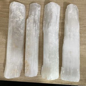 "Shop Selenite Points & Wands! Selenite Mini Logs 10"" 1LB 11oz -2LB 1oz (1 piece), Selenite Stick, Log, Charger, Reiki, Selenite, Meditate, Clear Energy 