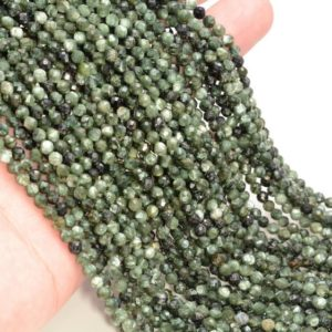 Shop Seraphinite Beads! 3.8MM Seraphinite Gemstone Grade AAA Micro Faceted Round Beads 15.5 inch Full Strand BULK LOT 1,2,6,12 and 50(80006522-A204) | Natural genuine faceted Seraphinite beads for beading and jewelry making.  #jewelry #beads #beadedjewelry #diyjewelry #jewelrymaking #beadstore #beading #affiliate #ad