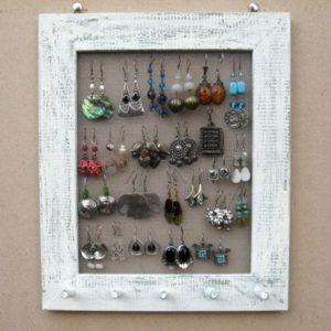 Shop Storage for Beading Supplies! Shabby Chic JEWELRY DISPLAY EARRING Rack / Cream / 25 – 40 Earrings / 20 – 30 Necklaces | Shop jewelry making and beading supplies, tools & findings for DIY jewelry making and crafts. #jewelrymaking #diyjewelry #jewelrycrafts #jewelrysupplies #beading #affiliate #ad