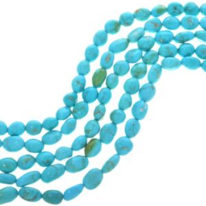 Shop Turquoise Chip & Nugget Beads! Sleeping Beauty Turquoise Beads Natural Untreated 7mm Nuggets 5159 – Indian Jewelry Supplies | Natural genuine chip Turquoise beads for beading and jewelry making.  #jewelry #beads #beadedjewelry #diyjewelry #jewelrymaking #beadstore #beading #affiliate #ad
