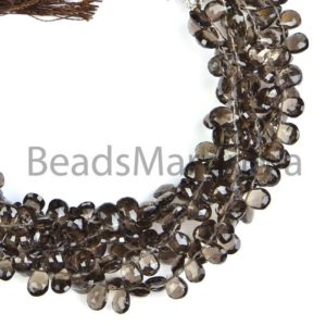 Shop Smoky Quartz Faceted Beads! Natural Smoky Quartz Faceted Pear Shape Beads, 100% Natural Smoky Quartz, AAA Quality, Faceted Smoky Quartz Beads,Semi Precious Smoky Quartz   Natural genuine faceted Smoky Quartz beads for beading and jewelry making.  #jewelry #beads #beadedjewelry #diyjewelry #jewelrymaking #beadstore #beading #affiliate #ad