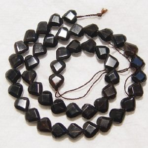 Shop Smoky Quartz Faceted Beads! Smokey Quartz Faceted Heart Shaped Natural Gemstone Bead-10mm x 9mm-15.5 inch strand- | Natural genuine faceted Smoky Quartz beads for beading and jewelry making.  #jewelry #beads #beadedjewelry #diyjewelry #jewelrymaking #beadstore #beading #affiliate #ad