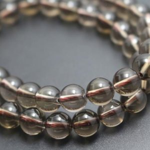 Natural Smoky Quartz Beads,Smooth and Round Stone Beads,4mm/6mm/8mm/10mm Beads Supply,15 inches one starand | Natural genuine round Smoky Quartz beads for beading and jewelry making.  #jewelry #beads #beadedjewelry #diyjewelry #jewelrymaking #beadstore #beading #affiliate #ad