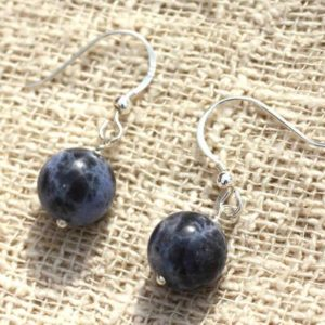 Shop Sodalite Earrings! Earrings 925 Silver – Sodalite 10mm | Natural genuine Sodalite earrings. Buy crystal jewelry, handmade handcrafted artisan jewelry for women.  Unique handmade gift ideas. #jewelry #beadedearrings #beadedjewelry #gift #shopping #handmadejewelry #fashion #style #product #earrings #affiliate #ad