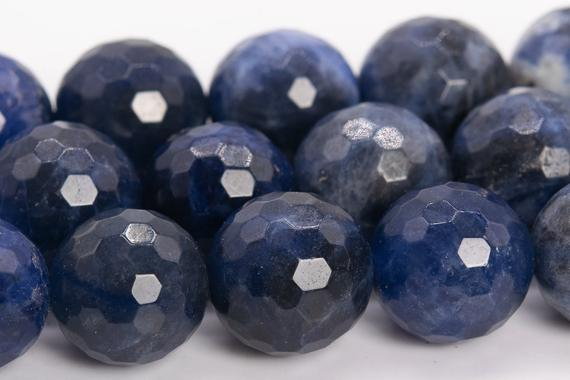Sodalite Beads Grade Aaa Genuine Natural Gemstone Micro Faceted Round Loose Beads 6mm 8mm 10mm 12mm Bulk Lot Options