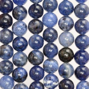 8mm Sodalite Gemstone Dark Blue Round Loose Beads 15.5 inch Full Strand (80006049-B66) | Natural genuine beads Array beads for beading and jewelry making.  #jewelry #beads #beadedjewelry #diyjewelry #jewelrymaking #beadstore #beading #affiliate #ad