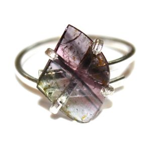 Shop Watermelon Tourmaline Rings! Striped Watermelon Tourmaline Ring Sterling Silver Ring Gift for Wife Watermelon Tourmaline Slice Tourmaline Jewelry Gift for Girlfriend | Natural genuine Watermelon Tourmaline rings, simple unique handcrafted gemstone rings. #rings #jewelry #shopping #gift #handmade #fashion #style #affiliate #ad