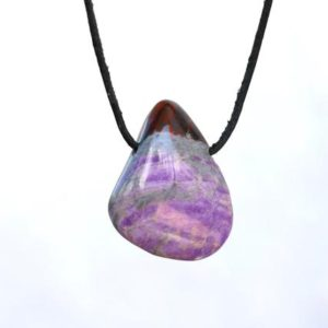 Shop Sugilite Pendants! Sugilite Pendant 1.2'' drilled Sugilite, Luvulite Necklace | Natural genuine Sugilite pendants. Buy crystal jewelry, handmade handcrafted artisan jewelry for women.  Unique handmade gift ideas. #jewelry #beadedpendants #beadedjewelry #gift #shopping #handmadejewelry #fashion #style #product #pendants #affiliate #ad