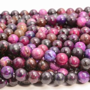 Sugilite Gemstone Grade AAA Purple Pink 6mm 8mm 10mm Round Loose Beads (A249) | Natural genuine beads Gemstone beads for beading and jewelry making.  #jewelry #beads #beadedjewelry #diyjewelry #jewelrymaking #beadstore #beading #affiliate #ad