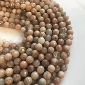 Shop Sunstone Faceted Beads! Sunstone 6mm 8mm 10mm Faceted Round Natural Gemstone Bead- -15 inch strand- | Natural genuine faceted Sunstone beads for beading and jewelry making.  #jewelry #beads #beadedjewelry #diyjewelry #jewelrymaking #beadstore #beading #affiliate #ad