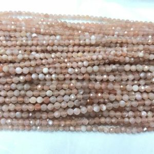 Shop Sunstone Round Beads! Genuine Faceted Sunstone 2mm/3mm Round Cut Natural Orange Beads 15 inch Jewelry Supply Bracelet Necklace Material Support Wholesale | Natural genuine round Sunstone beads for beading and jewelry making.  #jewelry #beads #beadedjewelry #diyjewelry #jewelrymaking #beadstore #beading #affiliate #ad