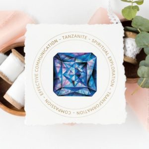 Shop Printable Crystal Cards, Pages, & Posters! Tanzanite Crystal Card – Crystal Meaning  –  Digital File – Jewelry Display Card – Gift Tag – Package Insert | Shop jewelry making and beading supplies, tools & findings for DIY jewelry making and crafts. #jewelrymaking #diyjewelry #jewelrycrafts #jewelrysupplies #beading #affiliate #ad