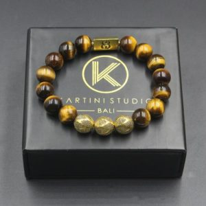 Shop Tiger Eye Bracelets! Tiger's Eye and Gold Beads Bracelet, Men's Bracelet, Men's Gold Bracelet, Grade AA Tiger's Eye Bracelet, Bracele Men, Luxury Bracelet Men | Natural genuine Tiger Eye bracelets. Buy crystal jewelry, handmade handcrafted artisan jewelry for women.  Unique handmade gift ideas. #jewelry #beadedbracelets #beadedjewelry #gift #shopping #handmadejewelry #fashion #style #product #bracelets #affiliate #ad