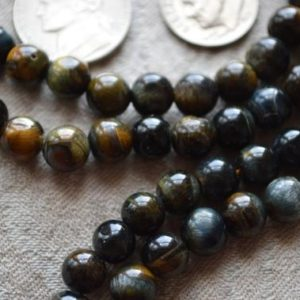 Black Tiger Eye Japa Mala Bhakti Yoga Beads Prayer Beads Handmade Yoga Mala Necklace – 108 Beads For Stimulating Willpower, Protection, Root | Natural genuine Gemstone necklaces. Buy crystal jewelry, handmade handcrafted artisan jewelry for women.  Unique handmade gift ideas. #jewelry #beadednecklaces #beadedjewelry #gift #shopping #handmadejewelry #fashion #style #product #necklaces #affiliate #ad