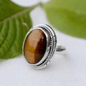 Shop Tiger Eye Rings! Tigers Eye Ring,Boho Ring,Statement Ring,Solid 925 Sterling Silver Ring,Handmade Jewelry,Brown Stone Ring,Birthday jewelry,Tiger Eye's Ring   Natural genuine Tiger Eye rings, simple unique handcrafted gemstone rings. #rings #jewelry #shopping #gift #handmade #fashion #style #affiliate #ad