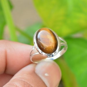 Shop Tiger Eye Jewelry! Yellow Tiger Eye Ring, Oxidized Ring, 925 Silver Rings, 10×14 mm Oval Tiger Eye Ring, Natural Tiger Eye Ring, Gemstone Ring, Handmade Rings | Natural genuine Tiger Eye jewelry. Buy crystal jewelry, handmade handcrafted artisan jewelry for women.  Unique handmade gift ideas. #jewelry #beadedjewelry #beadedjewelry #gift #shopping #handmadejewelry #fashion #style #product #jewelry #affiliate #ad