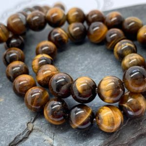 Shop Tiger Eye Beads! Tigers Eye Round Beads Tigers Eye Gemstone 8mm | Natural genuine beads Tiger Eye beads for beading and jewelry making.  #jewelry #beads #beadedjewelry #diyjewelry #jewelrymaking #beadstore #beading #affiliate #ad
