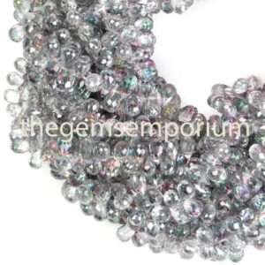 Shop Topaz Beads! Pink Mystic Topaz Faceted Drop Shape Beads, Mystic Topaz Drop Shape Beads, Mystic Topaz Faceted Beads, Pink Mystic Topaz Beads, topaz Beads | Natural genuine beads Topaz beads for beading and jewelry making.  #jewelry #beads #beadedjewelry #diyjewelry #jewelrymaking #beadstore #beading #affiliate #ad