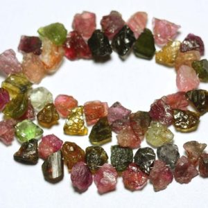 Shop Tourmaline Chip & Nugget Beads! 8.5 Inches Strand Natural Multi Tourmaline Rough Beads 6x8mm to 8x12mm Natural Shape Raw Gemstone Beads Superb Tourmaline Beads No2829 | Natural genuine chip Tourmaline beads for beading and jewelry making.  #jewelry #beads #beadedjewelry #diyjewelry #jewelrymaking #beadstore #beading #affiliate #ad