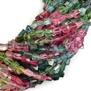 Shop Tourmaline Chip & Nugget Beads! Tourmaline Faceted Fancy Nuggets Gemstone Beads, Tourmaline Faceted Beads, Tourmaline Beads,Natural Tourmaline Beads,Nugget Shape Tourmaline | Natural genuine chip Tourmaline beads for beading and jewelry making.  #jewelry #beads #beadedjewelry #diyjewelry #jewelrymaking #beadstore #beading #affiliate #ad