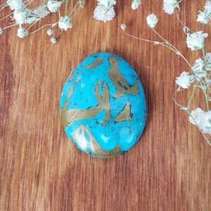 Shop Turquoise Stones & Crystals! Turquoise Cabochon, Large Genuine Turquoise Cab from Iron Mountain Mines, for Jewelry Making or Crystal Grids 2TQ | Natural genuine stones & crystals in various shapes & sizes. Buy raw cut, tumbled, or polished gemstones for making jewelry or crystal healing energy vibration raising reiki stones. #crystals #gemstones #crystalhealing #crystalsandgemstones #energyhealing #affiliate #ad