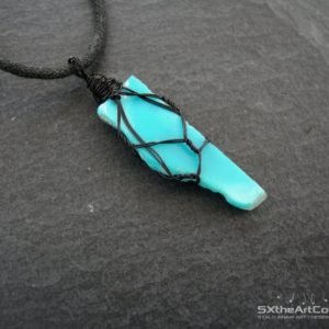 Shop Turquoise Pendants! Turquoise Rough Pendant, December Birthstone, Sagittarius Zodiac Amulet Necklace, 11th Anniversary Gemstone, Gift For Him, Men Jewelry | Natural genuine Turquoise pendants. Buy crystal jewelry, handmade handcrafted artisan jewelry for women.  Unique handmade gift ideas. #jewelry #beadedpendants #beadedjewelry #gift #shopping #handmadejewelry #fashion #style #product #pendants #affiliate #ad