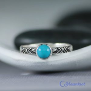 Shop Turquoise Rings! Turquoise Promise Ring for Women, Southwestern Style Sterling Silver Turquoise Ring  | Moonkist Designs | Natural genuine Turquoise rings, simple unique handcrafted gemstone rings. #rings #jewelry #shopping #gift #handmade #fashion #style #affiliate #ad