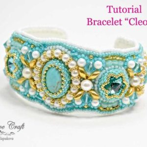 Shop Jewelry Making Tutorials! Tutorial bead embroidered cuff bracelet, beginners beading tutorial, beading tutorial, seed beads tutorial, beading pattern, PDF tutorial | Shop jewelry making and beading supplies, tools & findings for DIY jewelry making and crafts. #jewelrymaking #diyjewelry #jewelrycrafts #jewelrysupplies #beading #affiliate #ad