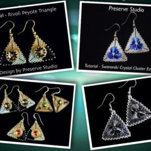Shop Jewelry Making Tutorials! Tutorial, Beading Tutorial, Triangle Peyote Pattern, Seed Bead Patterns, Beaded Triangle Pattern, DIY Earrings, Peyote Stitch | Shop jewelry making and beading supplies, tools & findings for DIY jewelry making and crafts. #jewelrymaking #diyjewelry #jewelrycrafts #jewelrysupplies #beading #affiliate #ad