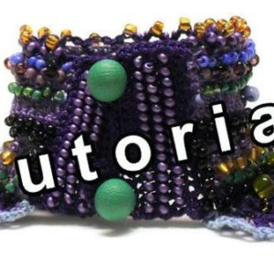 Shop Jewelry Making Tutorials! Tutorial, Pattern, Viola, colourful, crochet, beaded, cuff bracelet, crochet tutorial, beading tutorial, jewelry tutorial | Shop jewelry making and beading supplies, tools & findings for DIY jewelry making and crafts. #jewelrymaking #diyjewelry #jewelrycrafts #jewelrysupplies #beading #affiliate #ad