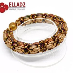 Shop Jewelry Making Tutorials! Tutorial Saba Bracelet – Beading tutorial, Beading pattern, Instant download, Ellad2 | Shop jewelry making and beading supplies, tools & findings for DIY jewelry making and crafts. #jewelrymaking #diyjewelry #jewelrycrafts #jewelrysupplies #beading #affiliate #ad